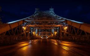 Picture bridge, night, Dresden