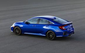 Picture asphalt, blue, Honda, sedan, Civic, 2020, 2019, You Sedan