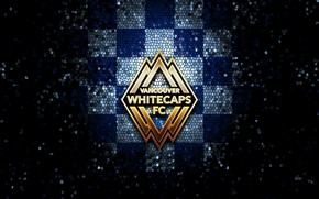 Picture wallpaper, sport, logo, football, glitter, checkered, MLS, Vancouver Whitecaps