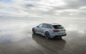 Picture Audi, universal, RS 6, 2020, wet sand, 2019, V8 Twin-Turbo, RS6 Avant, UK-version