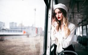 Picture look, pose, Girl, blouse, tram, Danil Gorkov, Christina Pleshakova