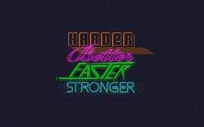 Picture Music, Background, Daft Punk, Thomas Bangalter, Harder, Faster, Daft Punk, Better, Mask, Bang age, Stronger, …
