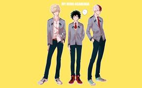 Picture background, anime, art, guys, Boku no Hero Academy, My hero Academy
