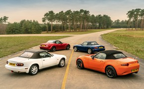 Picture roof, Mazda, MX-5, roadsters, four generations (NA-NB-NC-ND)