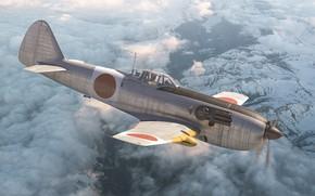 Picture Interceptor, single-metal fighter, Nakajima Ki-87