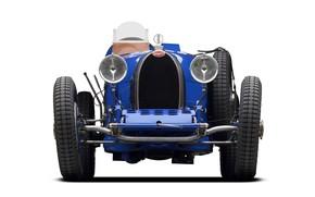 Picture blue, retro, 1927, sports car, Bugatti Type 35C