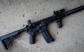Picture weapons, rifle, weapon, muffler, custom, M16, ar-15, assault rifle, m16, assault Rifle, ar-15, silenser, ar …