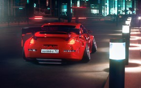 Picture Red, Auto, Night, Machine, Tuning, Nissan, Red, Nissan 350Z, Car, Auto, Sunrise, Tuning, Transport & …