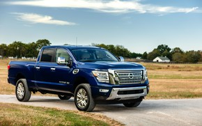 Picture blue, Nissan, pickup, Titan, 2020, Titan XD SL