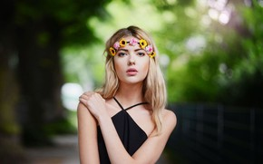 Picture Model, Beautiful, Beauty, Ebba Of Zingmark, Model, Look, Blonde, Look, Ebba Zingmark, Wreath, Girl, Blonde, …