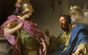Picture picture, history, mythology, François-André Vincent, Socrates Training Of Alcibiades, Francois-Andre Vincent