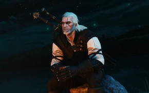 Picture night, Geralt, CD Projekt RED, The Witcher 3: Wild Hunt, The Witcher 3: Wild Hunt