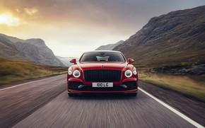 Picture Bentley, front, Flying Spur, 2020, V8, 2021, Flying Spur V8