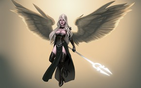 Picture background, angel, spear
