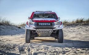 Picture Sand, Auto, Sport, Machine, Toyota, Hilux, 302, Rally, SUV, Rally, Sport, Toyota, Hilux, The front, …