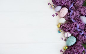 Picture flowers, holiday, eggs, Easter, tape, lilac