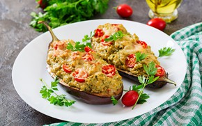 Picture food, chicken, cheese, eggplant, meat, tomatoes, Timolina