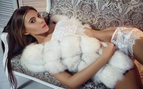 Picture sofa, Girl, Alexander Yushkevich, Peace Aliyev