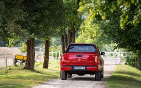 Picture red, Mercedes-Benz, rear view, pickup, 2018, X-Class