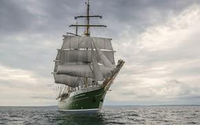 Picture sea, the sky, romance, sailing ship
