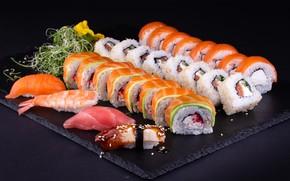 Picture fish, figure, sushi, rolls, sashimi, Seth