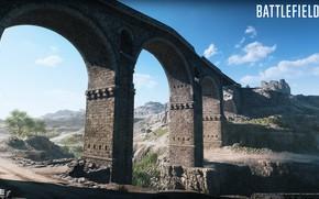Picture road, the sky, bridge, construction, Battlefield V