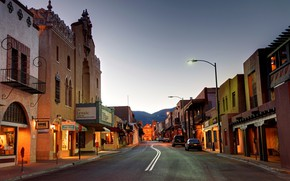 Picture the city, street, the evening, New Mexico, Santa Fe