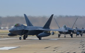 Picture Fighter, USAF, F-22 Raptor, Chassis, Elephant Walk, PTB