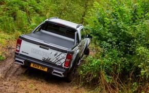 Picture pickup, shrub, feed, Isuzu, D-Max, 2019, UK version, XTR