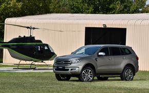 Picture lawn, Ford, hangar, helicopter, Everest, Limited, 4WD, 2019