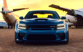 Picture Dodge, Blue, Front, Charger, Tuning, Muscle car, Hellcat, Custom, SRT