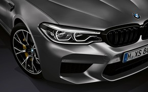 Picture the hood, BMW, grille, bumper, 2018, M5, V8, F90, M5 Competition