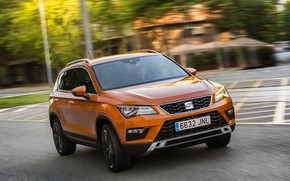 Picture the city, movement, street, SUV, Seat, 2017, 4Drive, Ateca