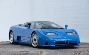 Picture Blue, French, Supercar, The front, Bugatti EB110