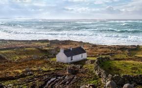 Picture wave, stones, coast, Ireland