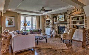 Picture design, style, interior, fireplace, living room, Lancaster