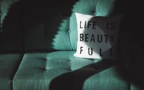 Picture Life, Sofa, Mood, Inscription