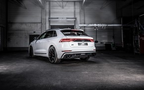 Picture Audi, rear view, crossover, ABBOT, 2019, Audi Q8