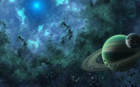 Picture space, planet, ring