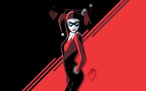 Picture Girl, Minimalism, Figure, Girl, Bit, Art, Harley Quinn, Character, Harley Quinn, DC comics, Craig Drake, …