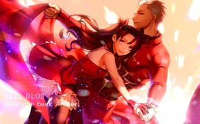 Picture Rin, Archer, Fate stay night, Fate / Stay Night