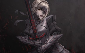 Picture look, girl, fiction, magic, sword, warrior, art, armor