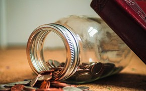 Picture Money, Macro, Book, Glass jar