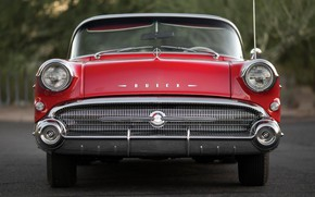 Picture Red, 1957, Retro, Convertible, Buick, Luxury