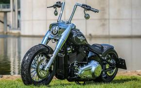 Picture Harley Davidson, Harley-Davidson, Motorcycle, Fat Boy, Thunderbike, Custom bike, By Thunderbike, Phynix
