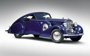 Picture retro, Rolls-Royce, Coupe, 1937, Phantom III Aero