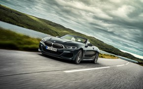 Picture road, markup, BMW, convertible, xDrive, G14, 8-series, 2019, Eight, M850i Convertible