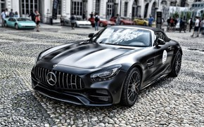 Picture black, Roadster, sports car, Mercedes-AMG GT