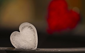 Picture background, heart, ice