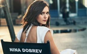 Picture look, girl, portrait, beauty, Nina Dobrev, bokeh